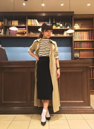 Slit tight skirt