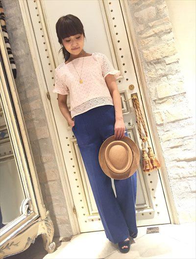 Cotton lace patch blouse