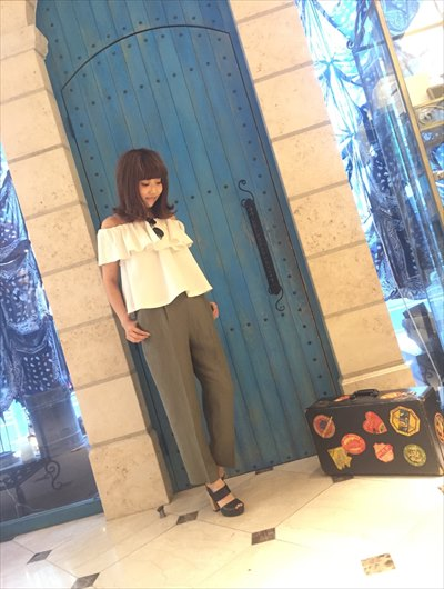 Frill gather blouse♡