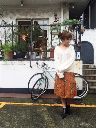 BIG sleeve cable knit♡
