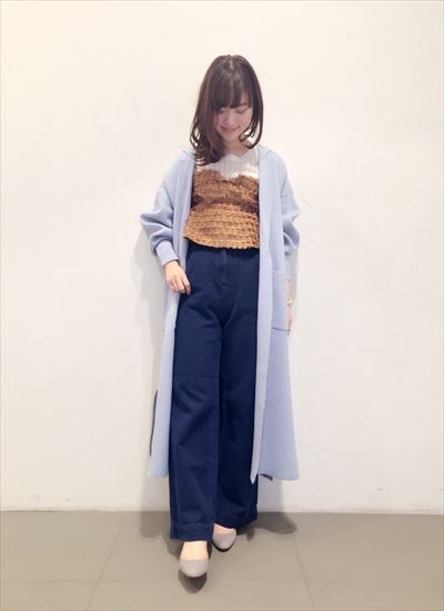 Knit gown coat