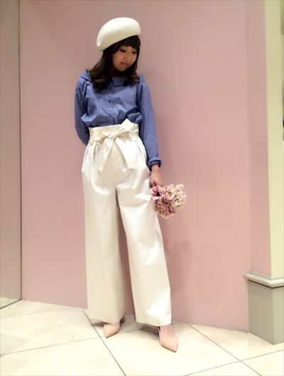 Crystalsatin hiwest wide pants♡