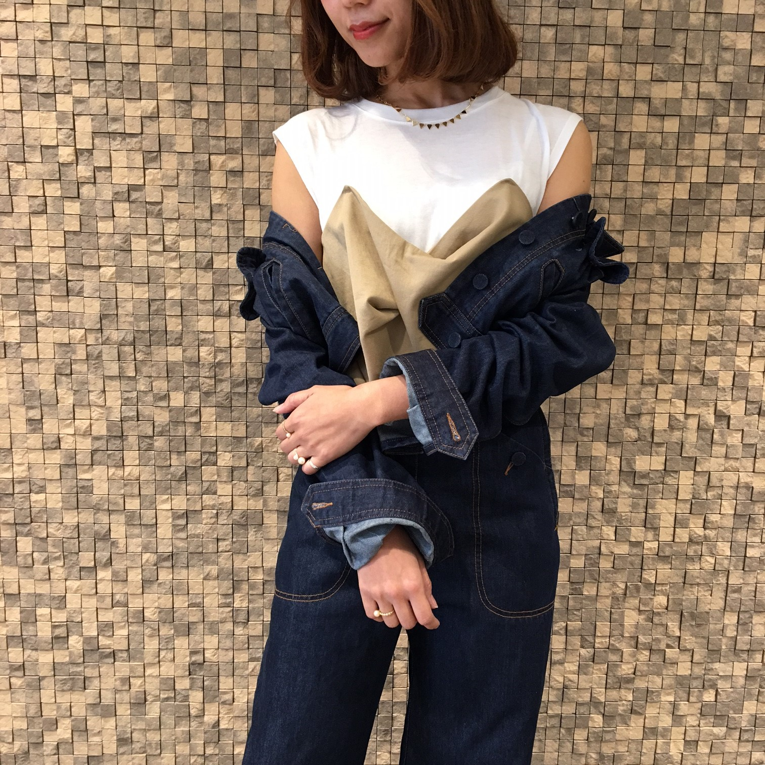 bustier combi cut and sew tops