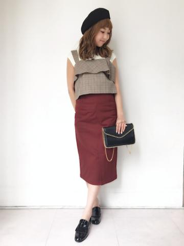 peplum belt tight skirt♡