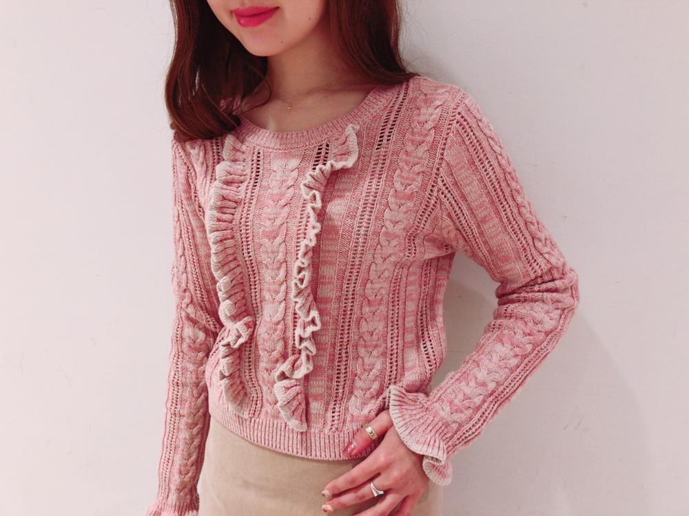 front frill knit