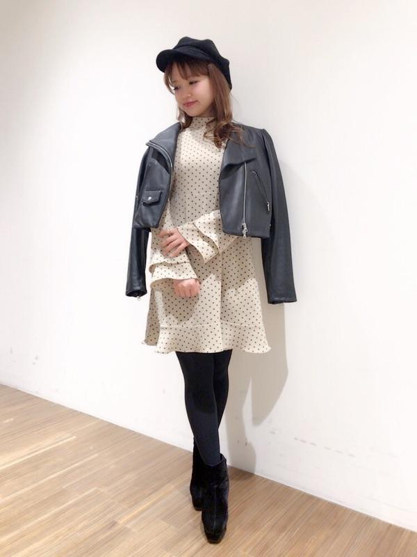 dot dress♡