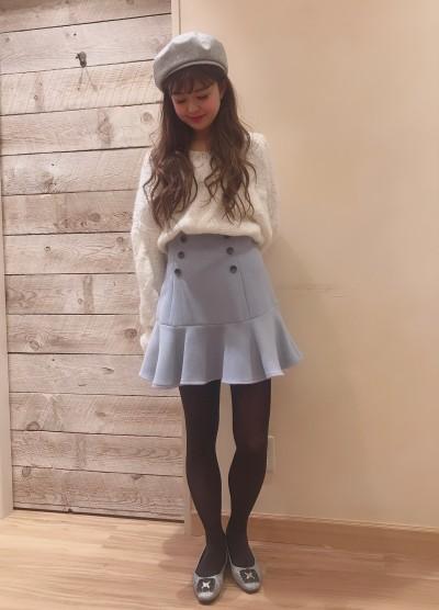 ♥ヘムフレアミニスカート♥