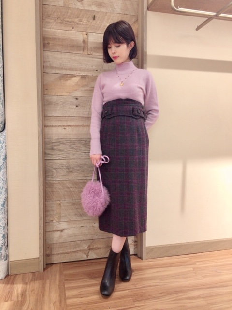 UK WOOL チェックタイトスカート☆